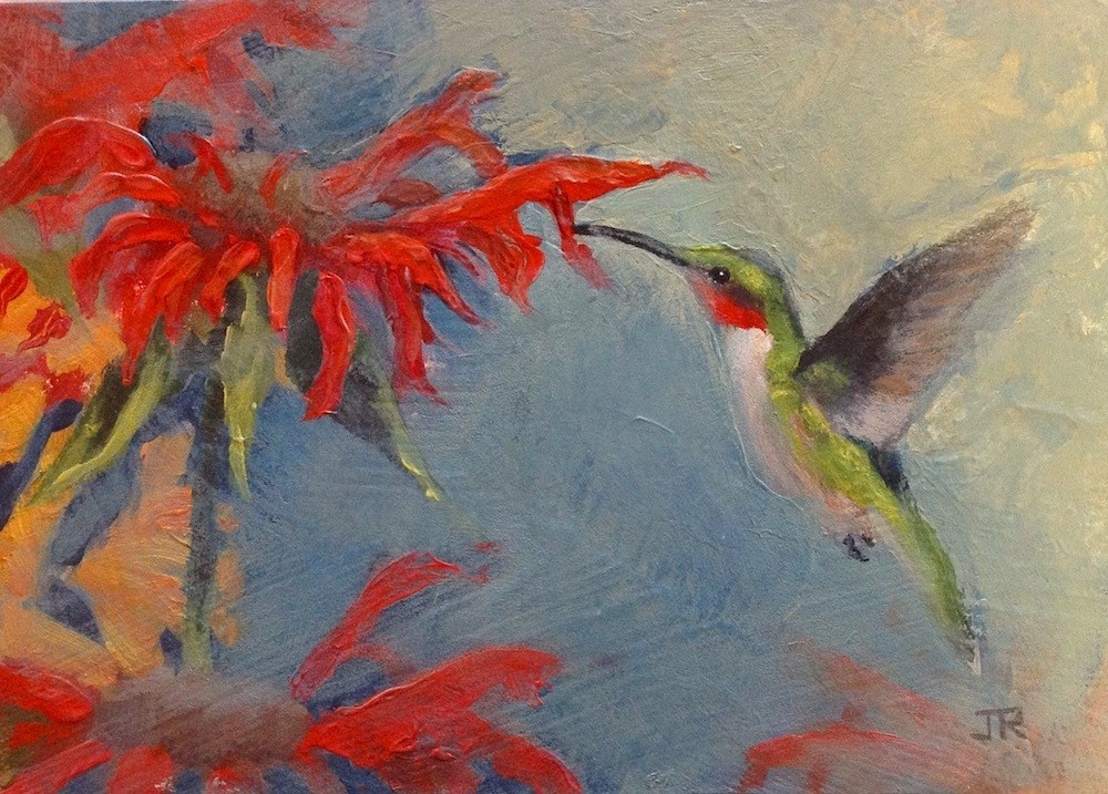 """Hello, Spring!"" original fine art by June Rollins"