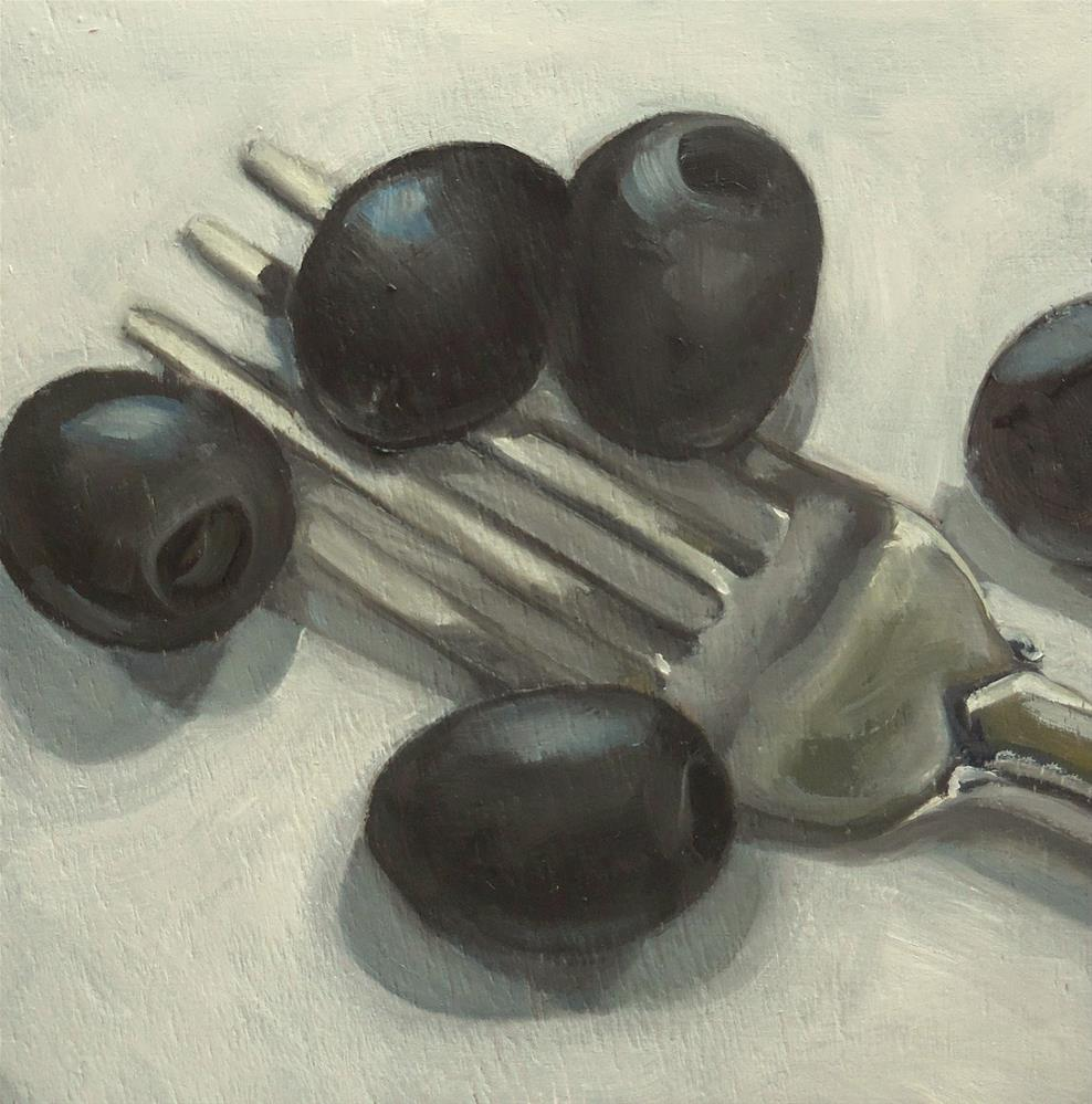 """Black Olives"" original fine art by Beth Moreau"