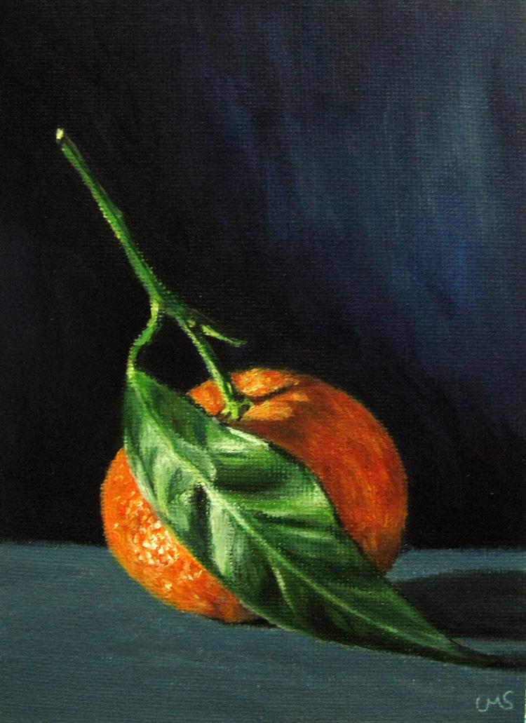 """""""Tangerine"""" original fine art by Ulrike Miesen-Schuermann"""