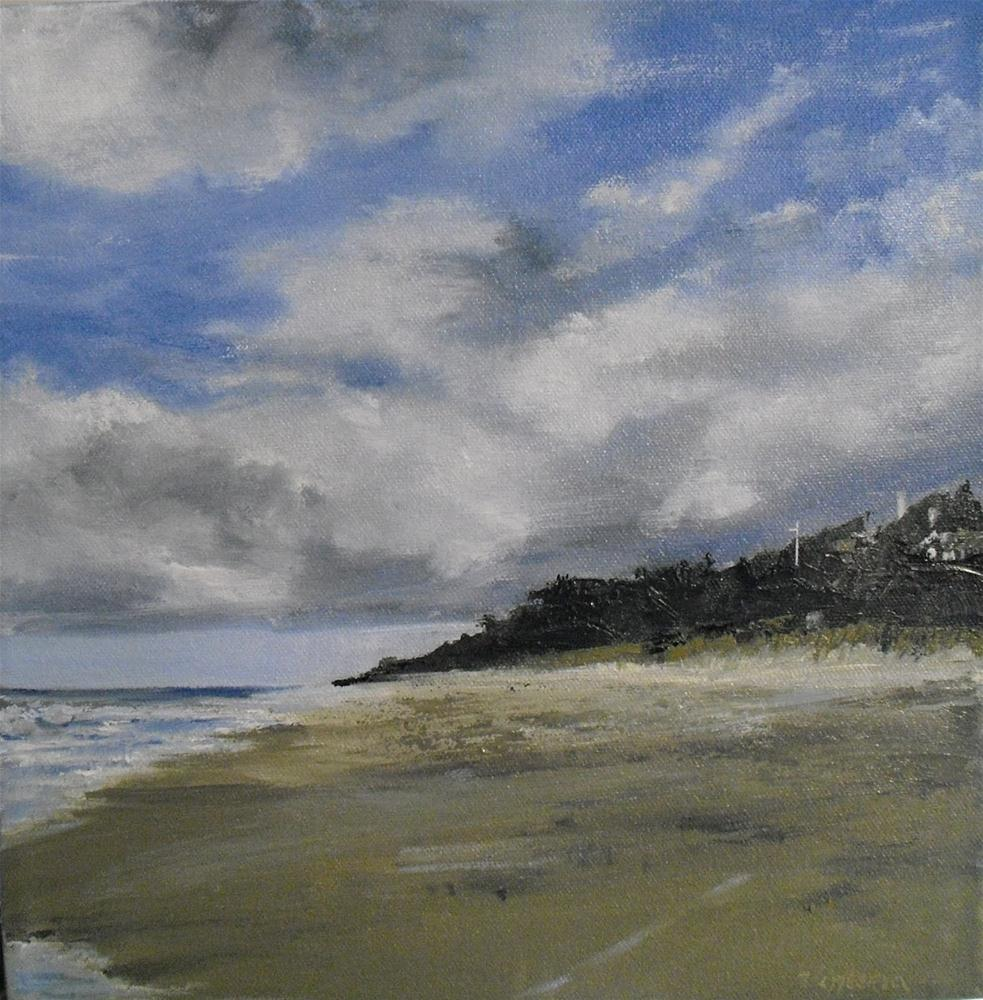Western View at East Hampton Beach ~ 12x12 ~oil on Canvas original fine art by Vincenza Harrity
