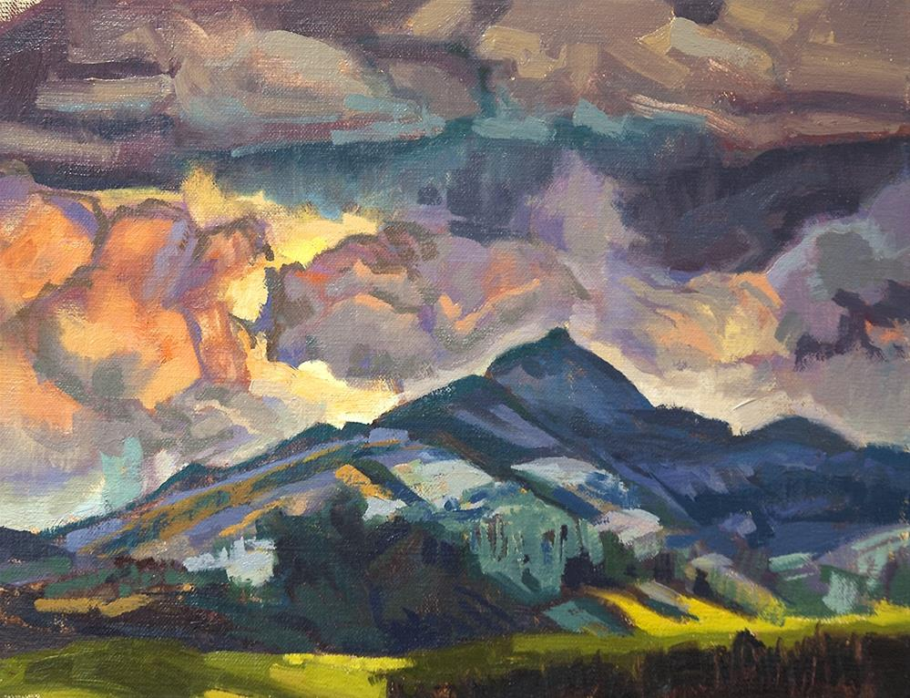"""Pagosa Peak 1.1.2016"" original fine art by Miriam Hill"