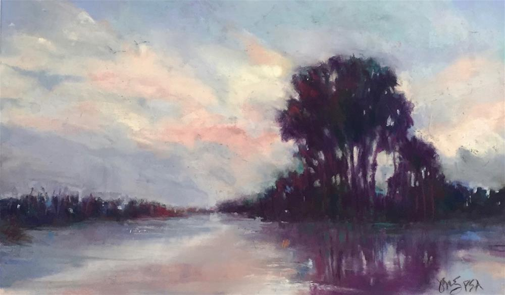 """Birds Over The Canal"" original fine art by jeri greenberg"