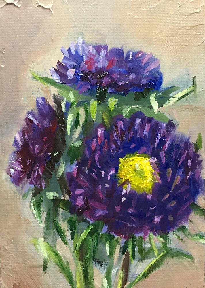 """Aster Trio"" original fine art by Gary Bruton"