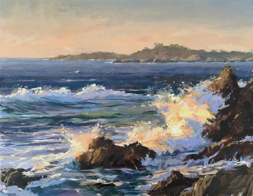 """California sunset"" original fine art by Haidee-Jo Summers ROI"