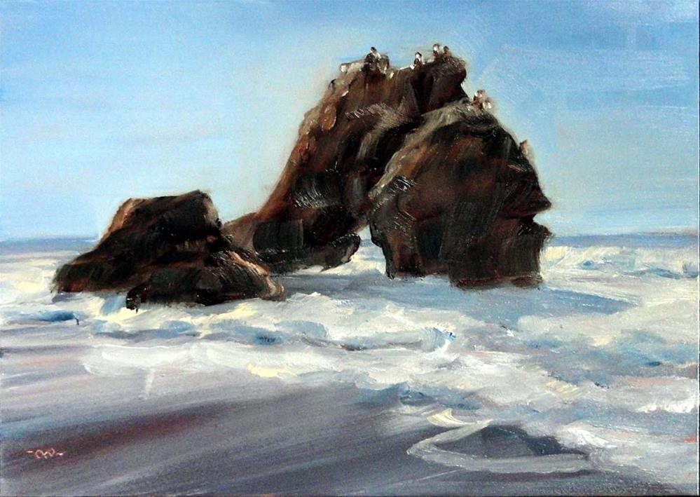 """Needle Rock"" original fine art by Cietha Wilson"