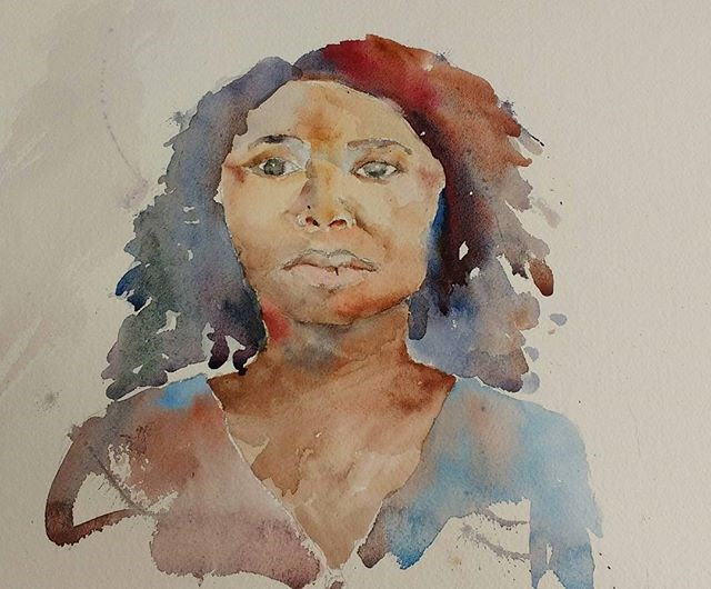 """Crisha, Huntsville"" original fine art by Maria Peagler"