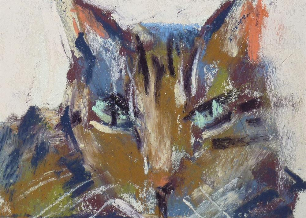 """Tabby"" original fine art by Karen Margulis"