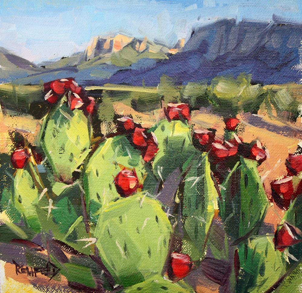 """Prickly Pear"" original fine art by Cathleen Rehfeld"