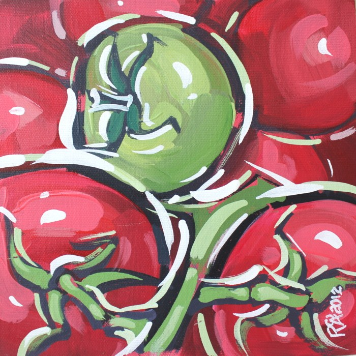 """A green tomato"" original fine art by Roger Akesson"