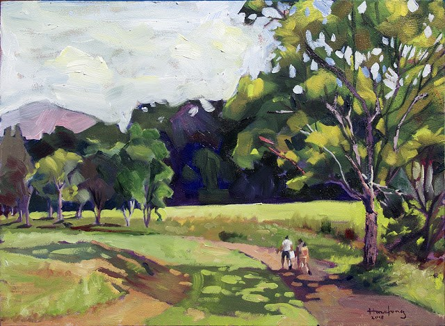 """Picnic at Serendah"" original fine art by Haze Long"