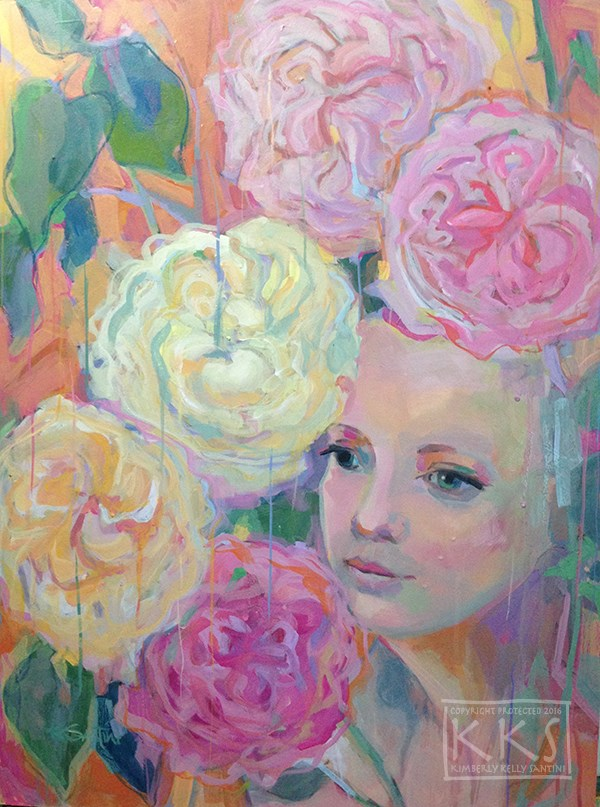"""Rosalie"" original fine art by Kimberly Santini"