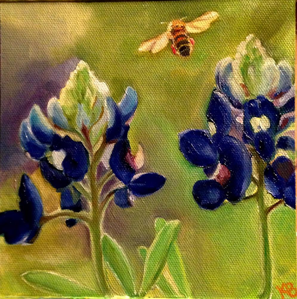 """Bee Happy!"" original fine art by Kim Boyer"