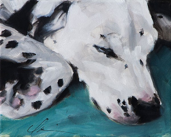 """Lucy"" original fine art by Clair Hartmann"