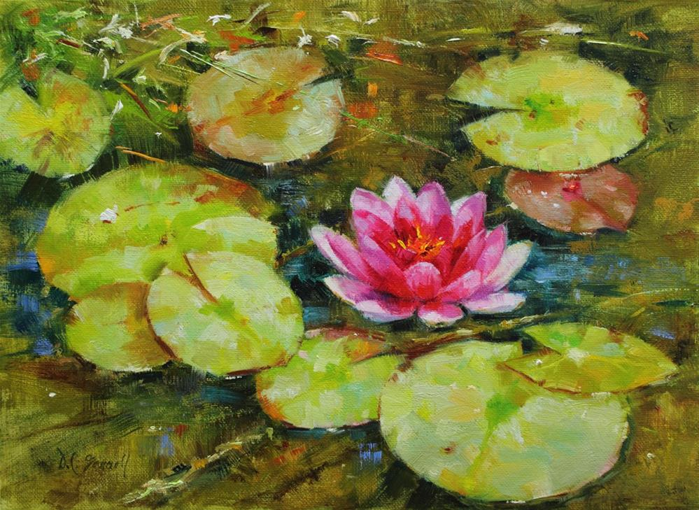 """Water Lily"" original fine art by Donna C Farrell"