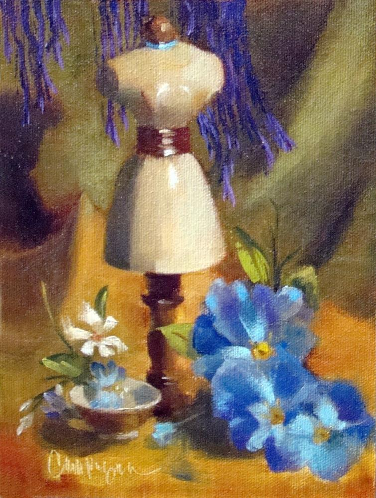 """Throwback Mannequin - Oil Painting"" original fine art by Roseanne Campagna"