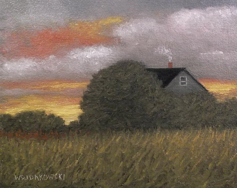 """Late fall"" original fine art by Joe Wojdakowski"
