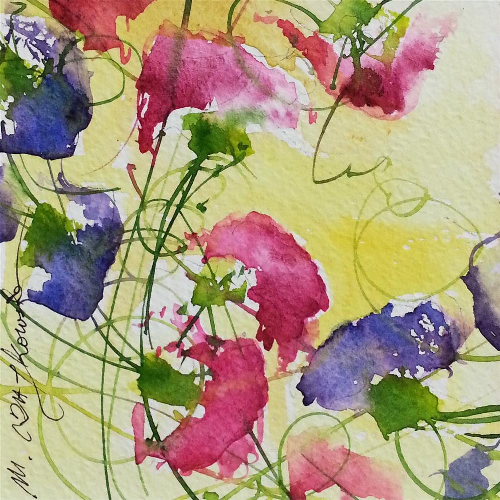 """Flower peas 3"" original fine art by Marlena Czajkowska"