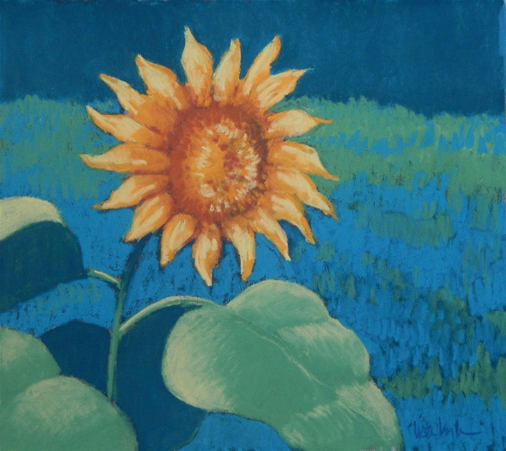 """Sunflower"" original fine art by Lisa Kyle"