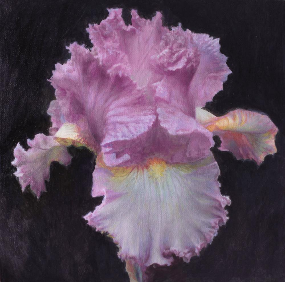 """Iris"" original fine art by Yuehua He"