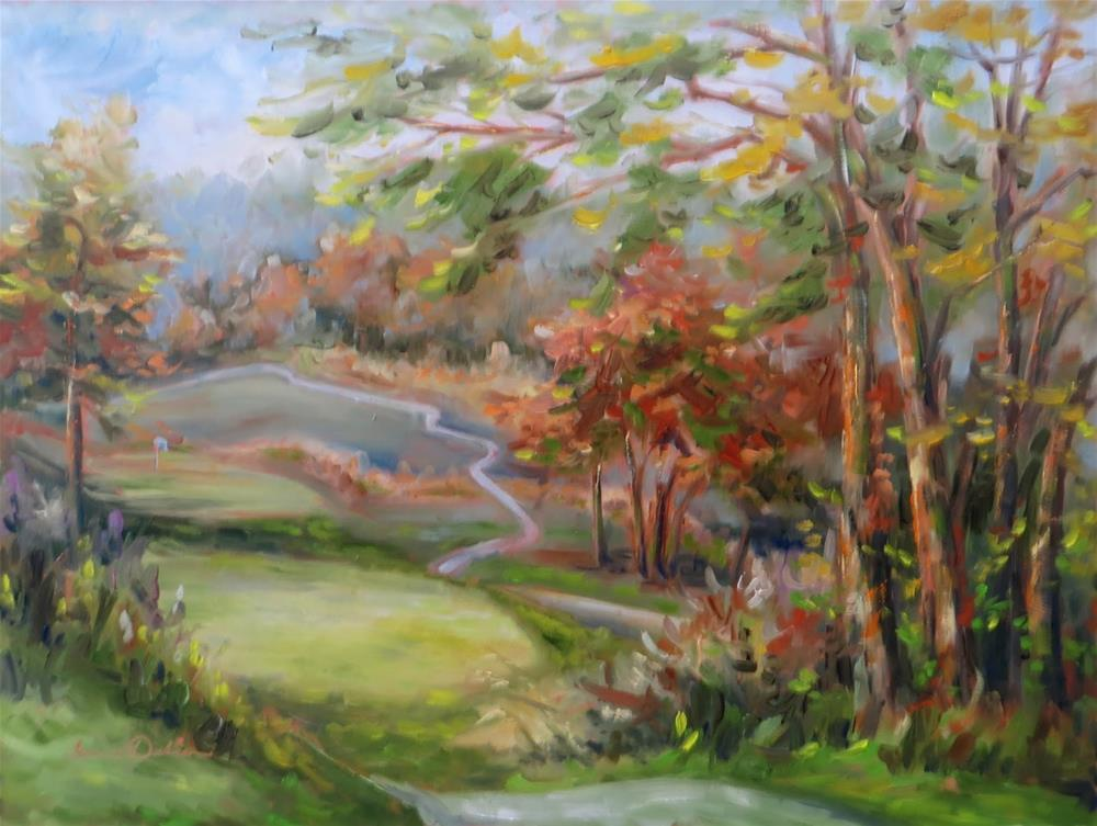 """Afternoon at the National Golf Course"" original fine art by Tammie Dickerson"