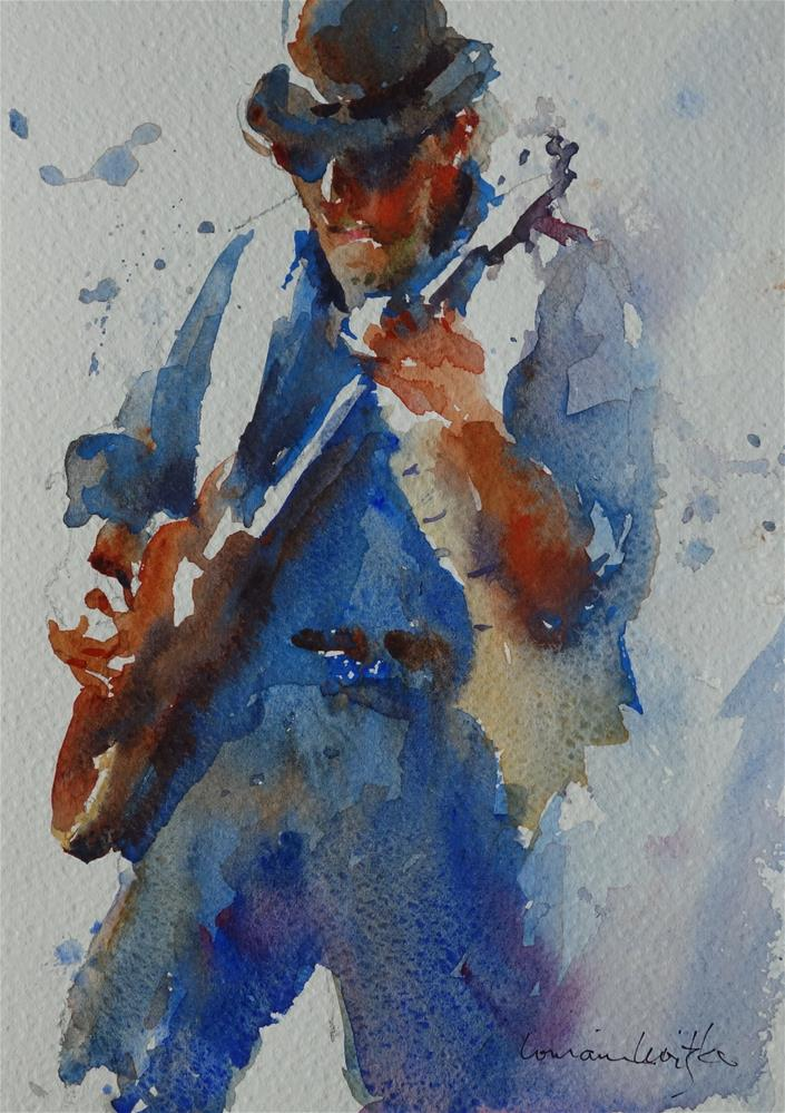 """Groovin' Bass"" original fine art by Lorraine Lewitzka"