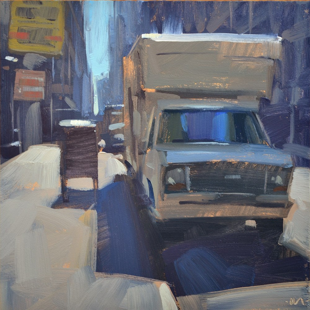 """Parked in the City"" original fine art by Carol Marine"