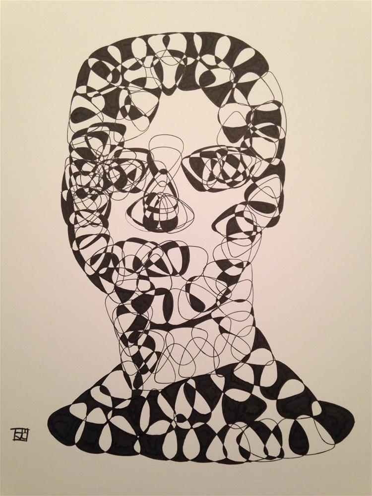 """Guitar pick Head"" original fine art by Arron McGuire"