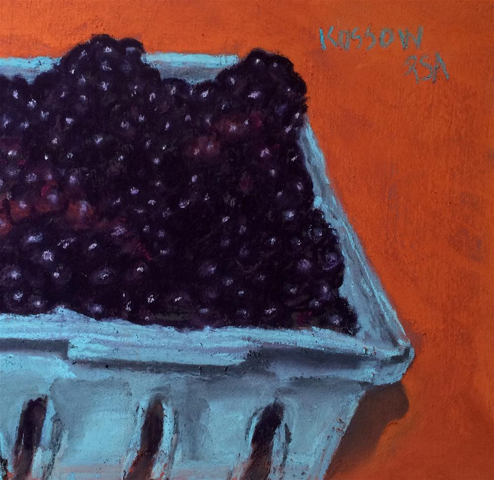 """Orange Is The New Blackberry"" original fine art by Cristine Kossow"