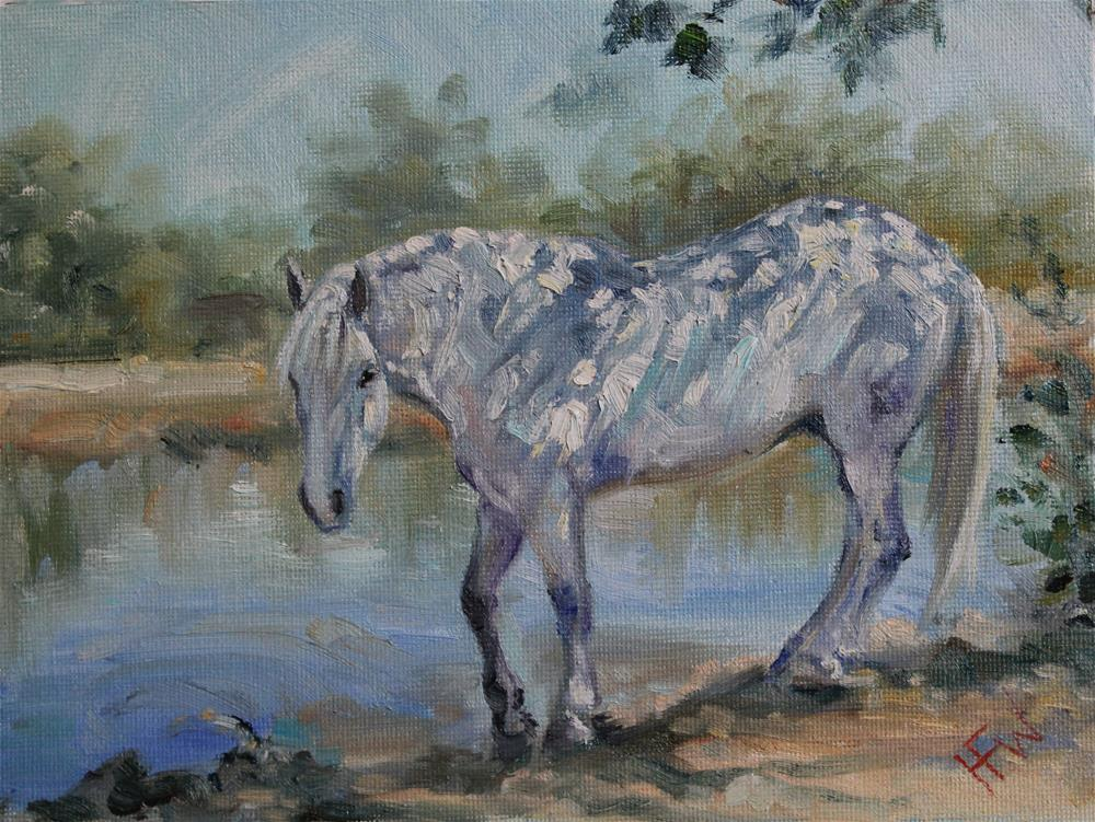 """White Horse Shadows"" original fine art by H.F. Wallen"