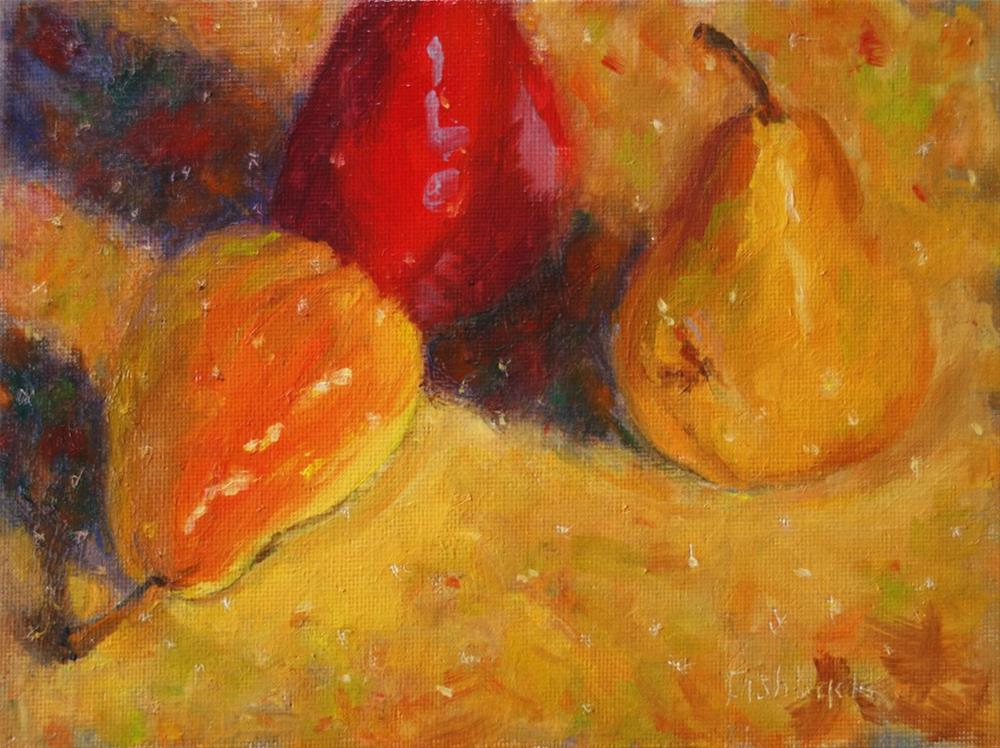 """Three Pears"" original fine art by Daniel Fishback"