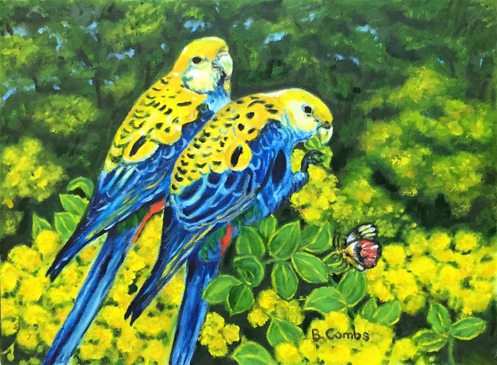 """""""Exotic Birds"""" original fine art by Bebe Combs"""