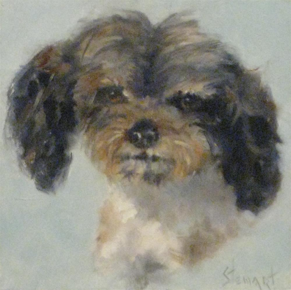 """DOGGONE"" original fine art by Kris Stewart"