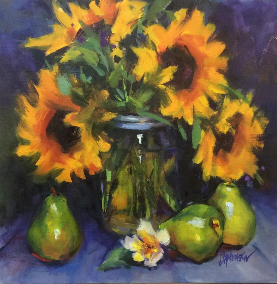 """Sunflower Obsession"" original fine art by Laurie Johnson Lepkowska"