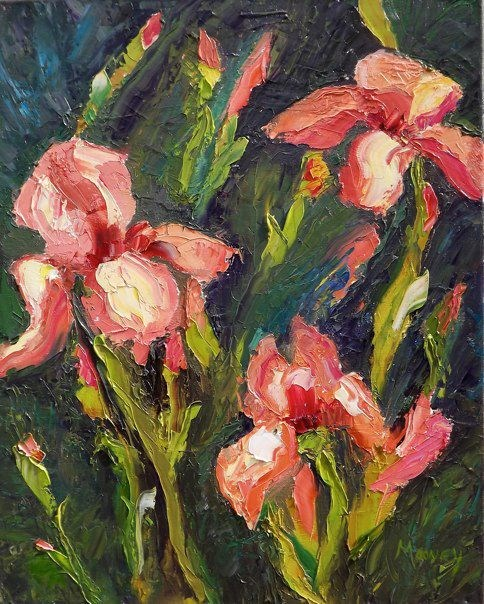 """Iris Fantasy"" original fine art by Linda mooney"