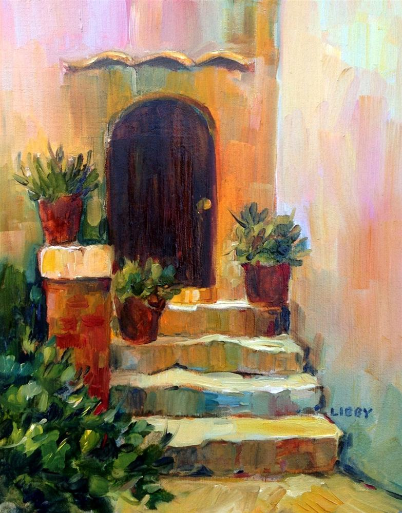 """Crooked Steps"" original fine art by Libby Anderson"
