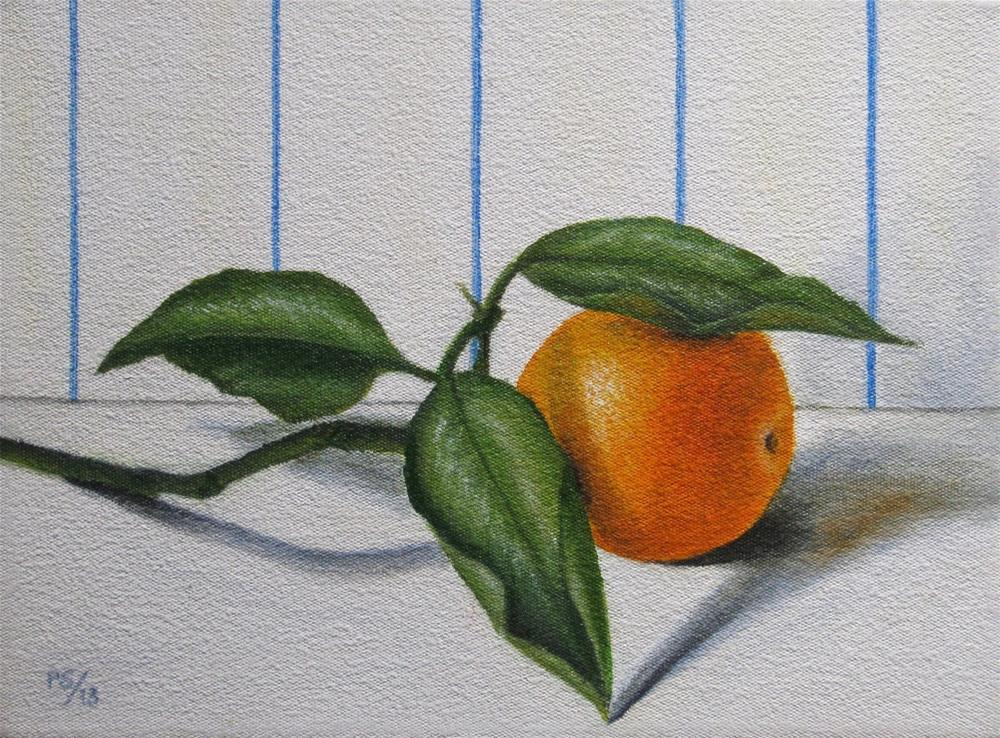 """Branch with Orange"" original fine art by Pera Schillings"
