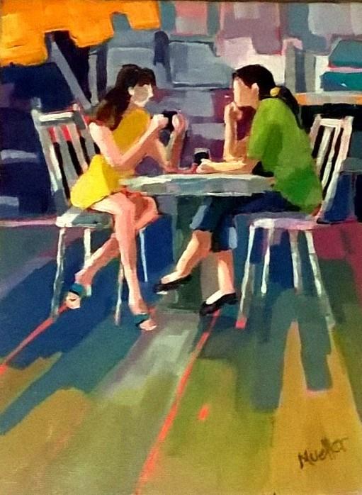"""Between Us"" original fine art by Laurie Mueller"