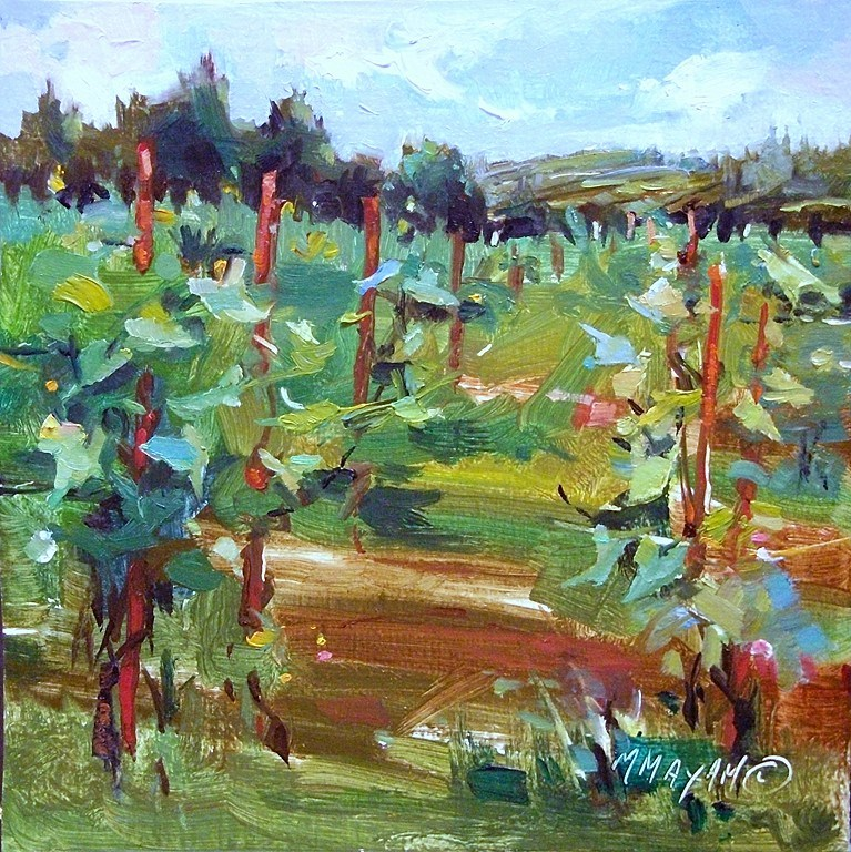 """Among The Vines"" original fine art by Mary Maxam"