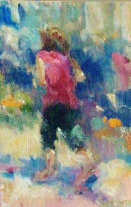 """Jogger"" original fine art by Connie Snipes"