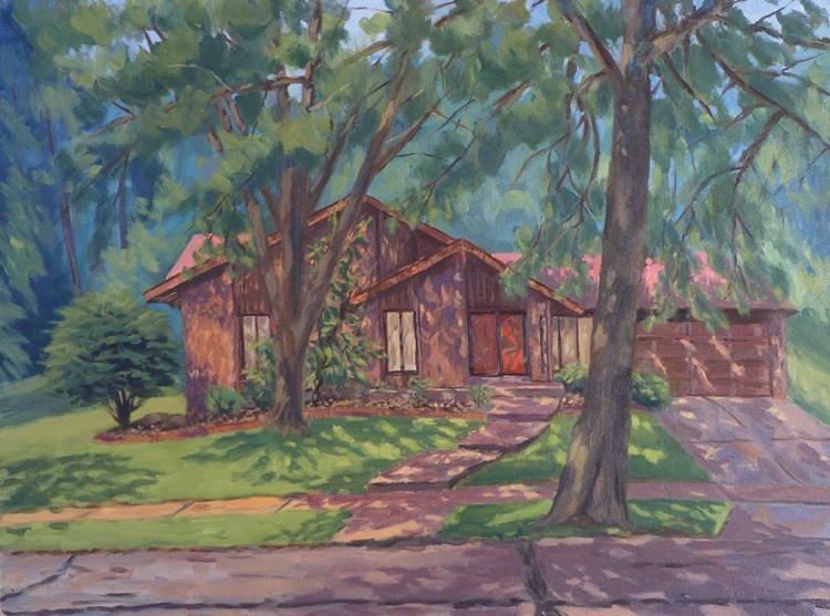 """Our House en Plein air"" original fine art by Daniel Fishback"