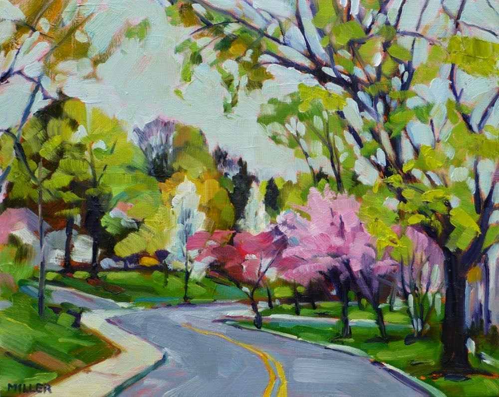 """Morning on Cleveland Drive No. 1"" original fine art by Jessica Miller"