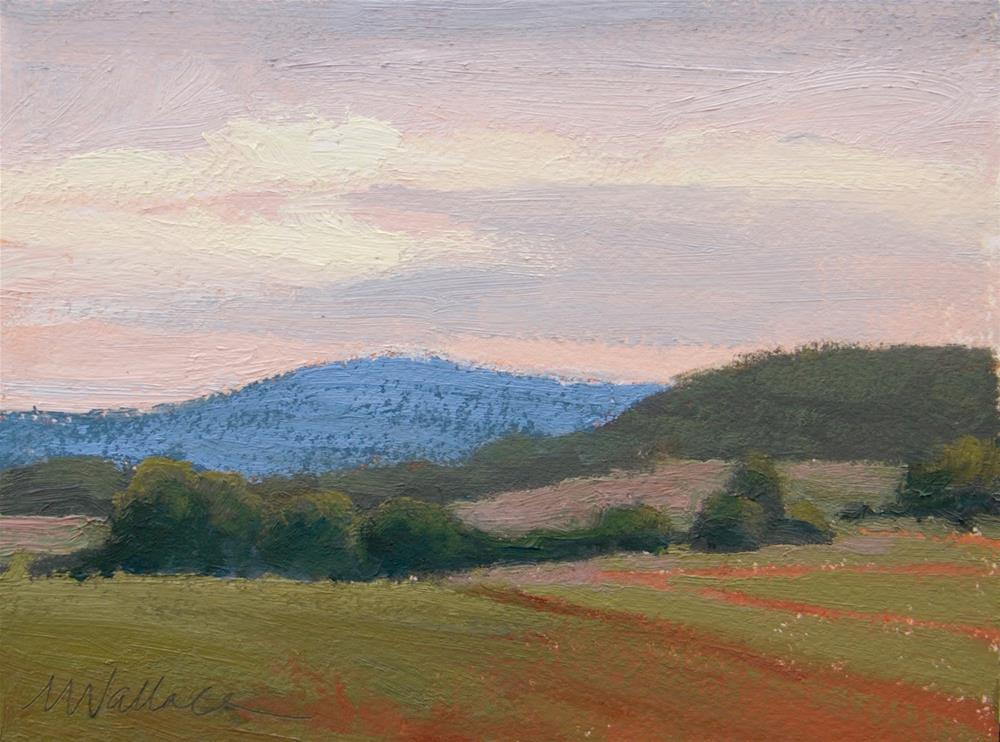 """#92 Rolling into evening"" original fine art by Nancy Wallace"