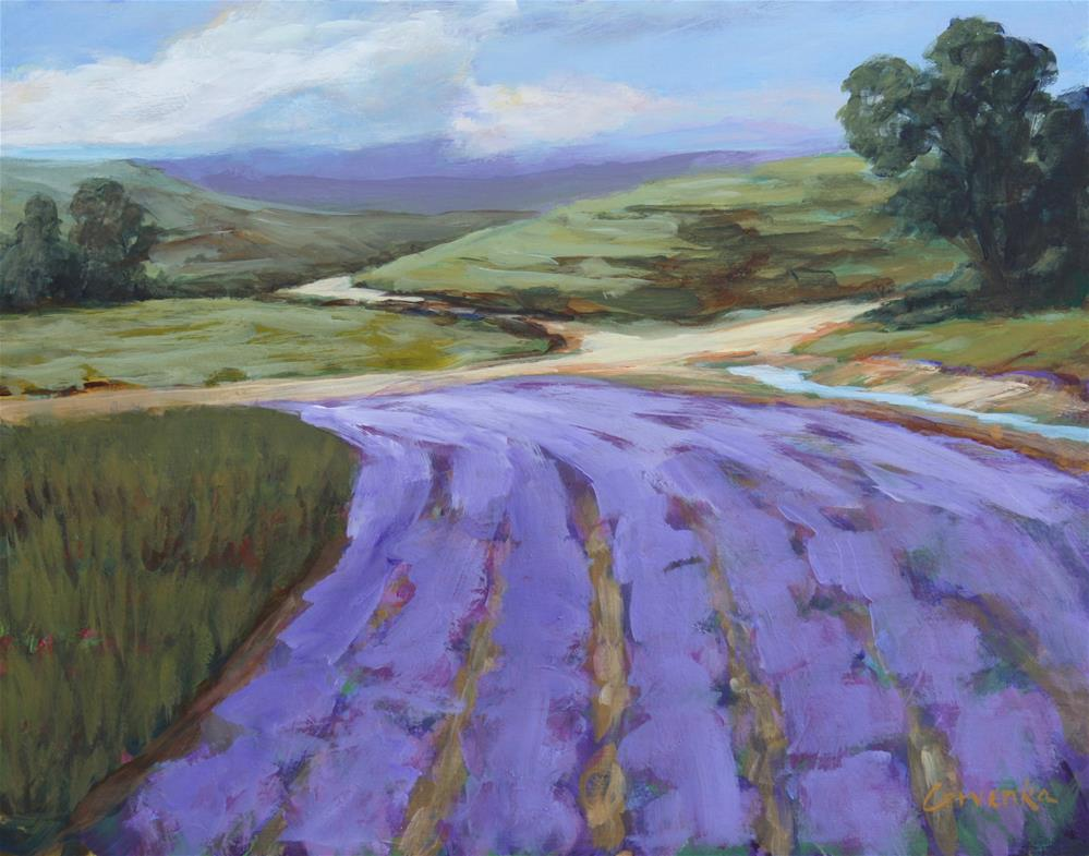 """Western Lavender Fields"" original fine art by Sue Cervenka"