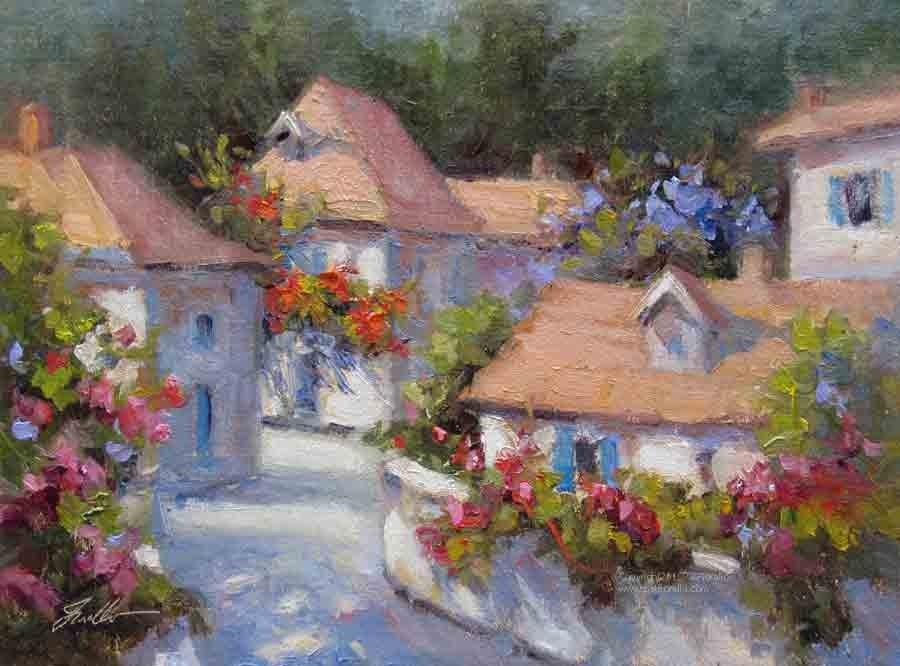 """""""French Delight"""" original fine art by Pat Fiorello"""