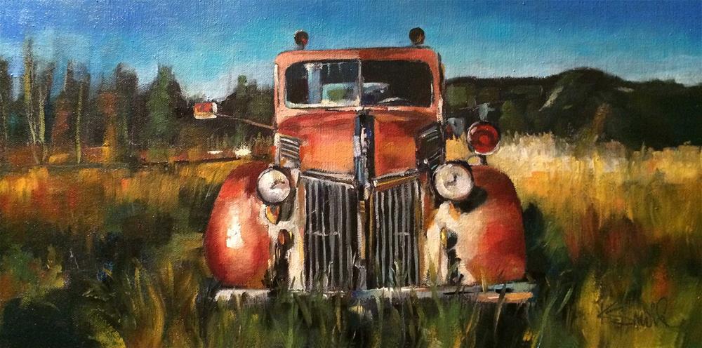"""old ford"" original fine art by Kim Smith"