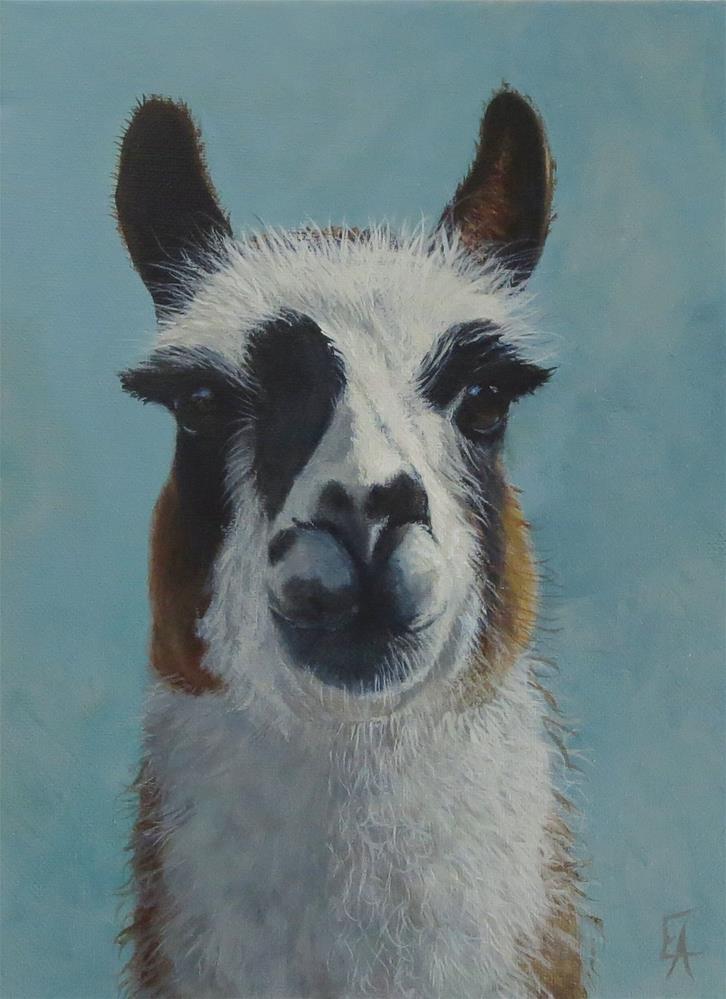 """Eyelashes"" original fine art by Elizabeth Elgin"