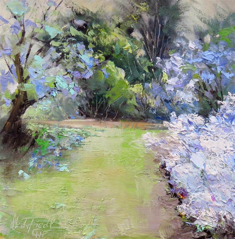 """""""Blooming Lilac"""" original fine art by Christa Friedl"""