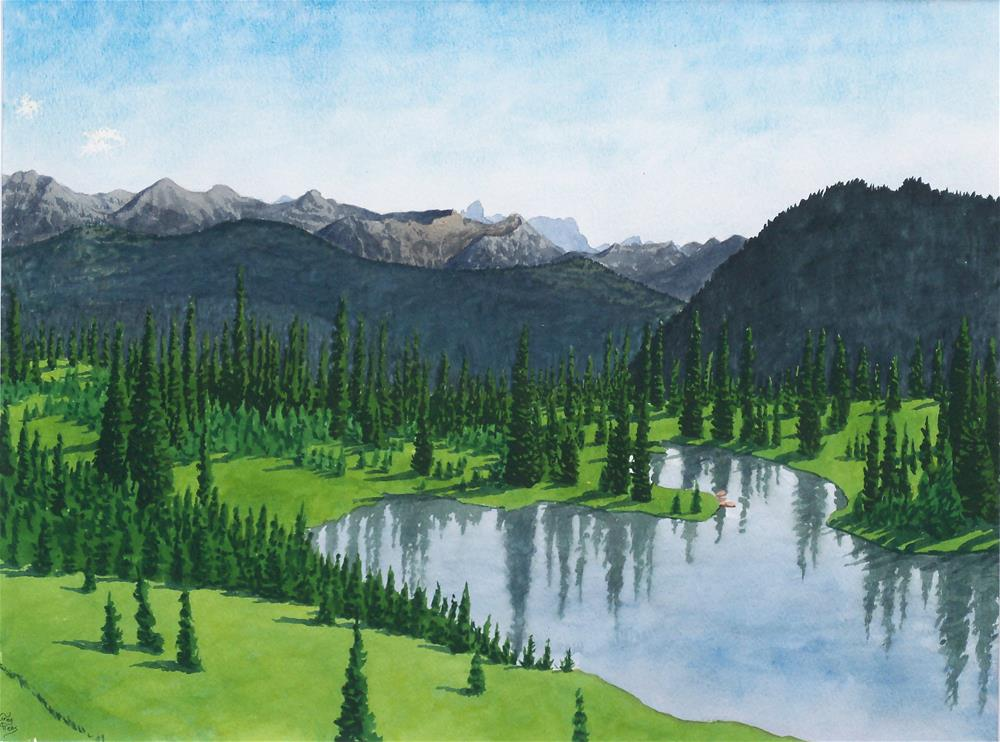 """Lower Picnic Lake"" original fine art by Greg Arens"