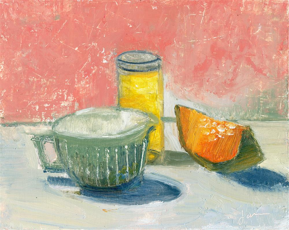 """Honey and Melon"" original fine art by Janet Gunderson"