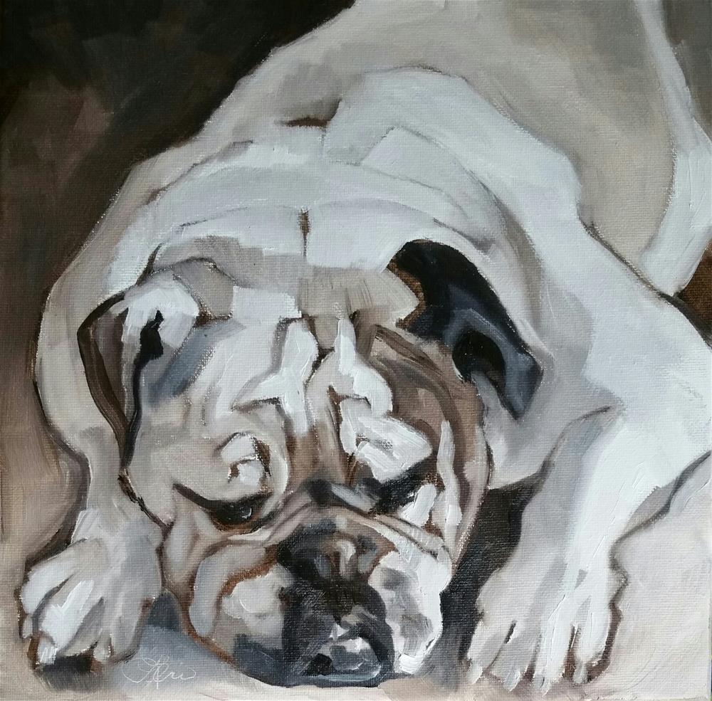 """Power Resting"" original fine art by Leni Tarleton"